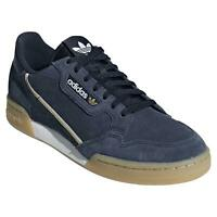 Adidas Originali Continental 80 le Scarpe da Tennis Blu Navy Camoscio Nuovo BNWT