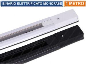 BINARIO ELETTRIFICATO MONOFASE INNESTO A SCORRIMENTO 1 METRO PER LAMPADE LED