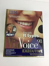 Vintage IBM ViaVoice 98 Executive Dictation Software With Headphone - Boxed