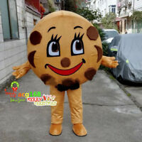 Cookie Mascot Costume Suits Cosplay Party Game Outfits Adults Halloween Dress US