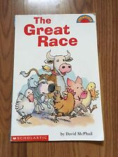 The Great Race By David McPhail Child's Paperback Animal Book VGUC