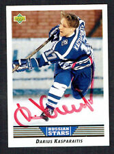 Darius Kasparaitis #335 signed autograph auto 1992-93 Upper Deck Hockey Card