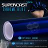 Supercast Flex Stretch Mirror Chrome Vinyl Wrap Sticker Roll Air Release - Blue