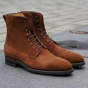 Carlos Santos Style 9156 Field Boot - Camurca 180 Golden Brown Suede