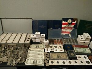 ESTATE COIN COLLECTION SALE!! SILVER, OLD US COINS, FOREIGN COINS!!!
