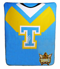 NEW LARGE NRL Gold Coast Titans Rugby League Polar Fleece Throw Blanket