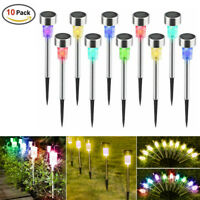 1/5/10Pcs Outdoor  Multicolor Led Solar Light Lawn Garden Landscape Lamp