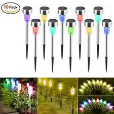 1/5/10Pcs Al Aire Libre Luz Solar Multicolor LED Lámpara de Jardín Paisaje De Césped