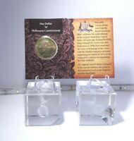 2008 $1 UNC Australia Original CoA Coin Folder M Melbourne Counterstamp ANDA