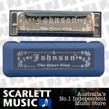"JOHNSON - Diatonic "" Blues King "" Harmonica, Key of C *NEW* Mouth Organ, 10 hole"