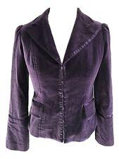 Naughty Purple Velvet Goth Blazer Jacket Size 12