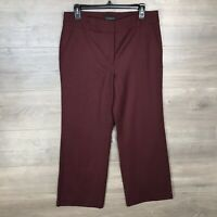 Talbots Women's Size 6 Heritage Fit Dress Pants Burgundy Red Wool Flannel