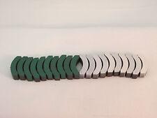 AURORA MODEL MOTORING GREEN/WHITE MAGNETS FOR THUNDERJETS ~ NOS ~ 10 SETS!