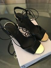 ALDO FRIZZELL sexy black lace up sandals heels wedges SIZE 8