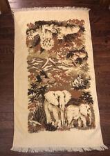 Vintage Jungle Animals Bath Towel With Fringe 24x44�