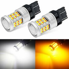 JDM ASTAR 2x 7443 7444NA Dual Color White Amber LED Switchback Turn Signal Light