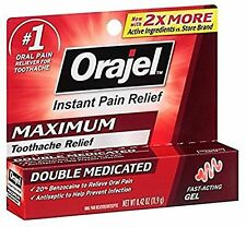 Orajel Maximum Strength Gel Oral Pain Reliever, 0.42 Oz Exp 7/18