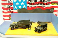 Solido Militaire 1/50 - Coffret US Army Jeep + GMC + Obusier