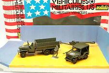 Solido Militär 1/50 - Schatulle US Armee Jeep + GMC + HAUBITZE
