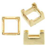 14K Yellow Gold Princess Low Base Head Setting Mounting 4 Prong V-End 0.06-5.5ct