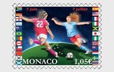 Women's World Cup Soccer mnh stamp 2019 Monaco Football
