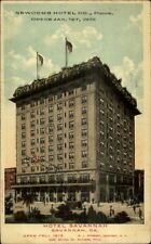 Savannah GA Hotel Savannah Newcomb Hotel Opens Jan 1 1913 Postcard