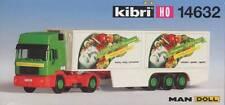 "Kibri Bausatz-Kit H0=1:87 14632 MAN HD mit Kühlkoffer ""Grünland-Konserven"""