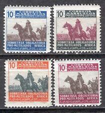 MARRUECOS Beneficencia edifil # 32/35 ** MNH LUJO General Franco a Caballo