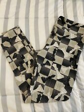 LuLaRoe TC Chess Leggings Black Cream