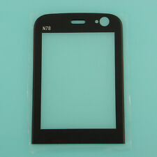 Black Front LCD Screen Lens Glass Cover Window Panel Replacement For Nokia N78