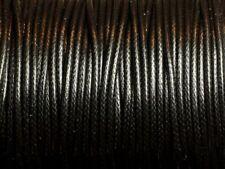1 Bobine 90 mètres - Fil Cordon Coton Ciré 1.5mm Noir
