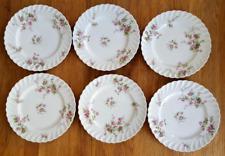 Haviland Limoges 6 assiettes plates modèle Sylvie torsadé décor de roses