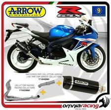 Arrow scarico Completo Street Thunder alluminio Nero Suzuki GSX R 600 15