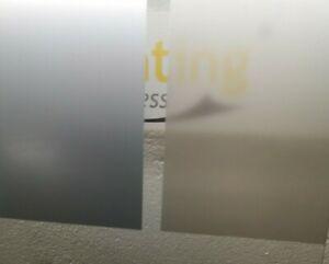Matt Grey/Silver Frosted Privacy Window Film Sticky Back Glass Adhesive 60% VLT