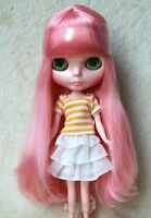 """Takara 12"""" Neo Blythe Doll from Factory Nude doll Pink Long hair SD38 +stand"""
