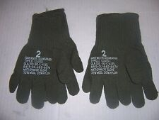 2 new pair military wool gloves made USA size 2 men SM-MED cold weather glove