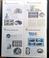 "V.RARE US SPACE 1975 ""LIMITED ISSUE"" BLOCK OF 4 STAMPS PRESENTATION SHEET MNH"
