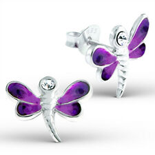 3 Pairs x Children's 925 Sterling Silver-Various Dragonfly Earring Set-BOXED