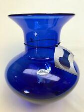 Blenko Millennium IV Vase #29 of 2000 Cobalt Vase