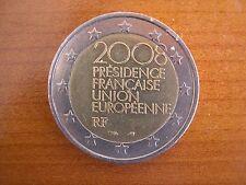 Pièce 2€ ayant circulé : France 2008 présidence française du CE
