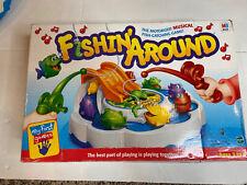 Milton Bradley Fishin Around Motorized Musical Fish Catching Game TESTED WORKS