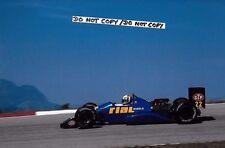 9x6 Photograph Andrea de Cesaris , F1 Rial ARC1 , Brazilian GP  Rio 1988