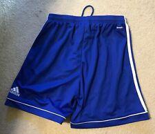 Adidas Shorts Girls Boys Size Sz M 14 16 Blue w White Stripe Soccer Sports Sport
