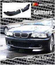 Carbon Fibre Front Spoiler Splitters for 01-06 BMW E46 3-Series M-Tech Bumper