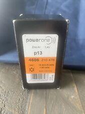 48 Genuine PowerOne Hearing Aid Batteries PR48, p13, 1.4V New Expire 2016