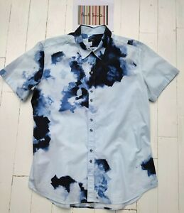 Paul Smith Short Sleeved Abstract Men's Shirt  SIZE L - FABULOUS & RARE - COOL