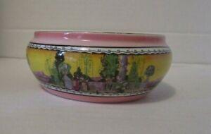 Vintage ROYAL WINTON WARE ROMAN GARDEN Jam Mustard Low POT Pink Yellow no lid!