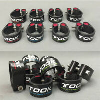 TOSEEK 27.2/30.8/31.6mm Bicycle Seat Post Clamp Bike Carbon Fiber Lock Seat Tube
