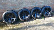 "15"" 5x120 Pontiac Concave alloy wheels Black with Nankang 155/60/15 tyres BMW"