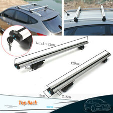 "48"" Car Auto Top Roof Rack Luggage Cargo Cross Bar Carrier Window Frame w/Lock"